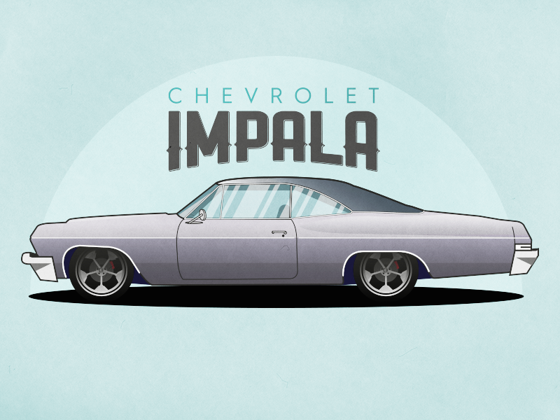 Chevrolet - Impala impala oldtimer classic fast race chevrolet illustration car