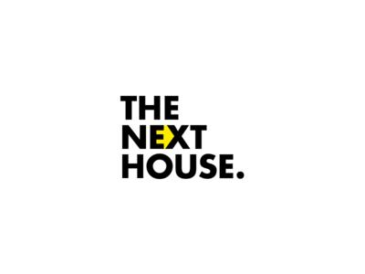 The Next House home house logo design design space white logo
