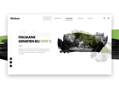 Vito's zwolle header interface ux art web design web ui