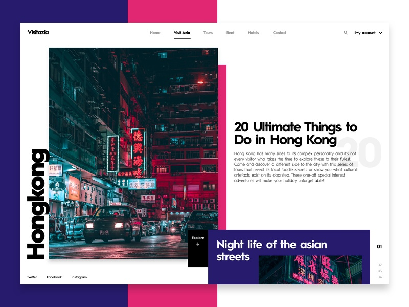 Blog page travel interface ux webdesign web ui