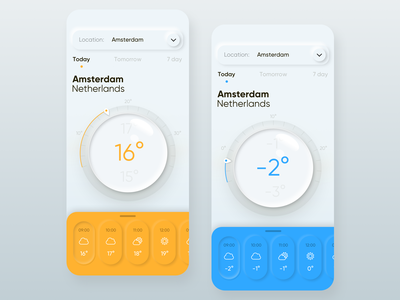 Mobile weather app typography degrees amsterdam ios weather mobile app interface ux ui