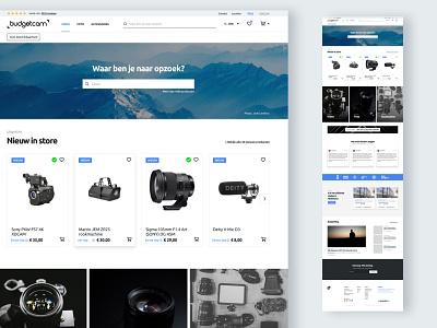 Camera rental store store design store branding interface ui ux webdesign rental app rental camera online shop online store web