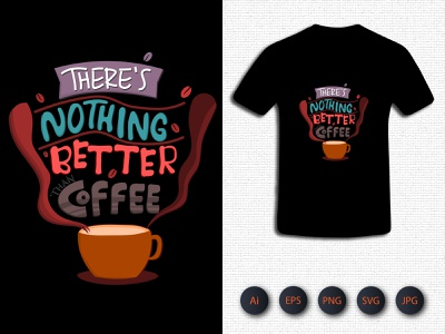 There's Nothing Batter Coffee Tshirt branding logo icon kids activity tshirt vector design typography illustration