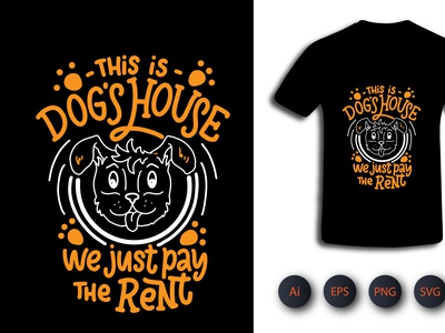 Dog House T-Shirt printingtshirt typeshirt typographishirt vector kids activity illustration design graphic design tshirtdesign pod t-shirt design clothing design t-shirt shirt tshirt typography