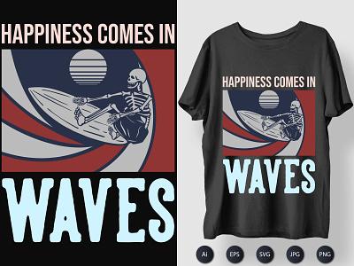Happiness Waves Tshirt Design teeshirt tee tshirtdesign printingtshirt printtshirt print thirtloves shirt design tshirt typography