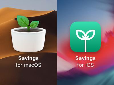 Savings 2 for macOS and iOS icon ios macos app finance