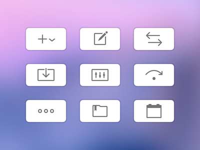 Toolbar icons in Savings for macOS ui mac icon macos finance app