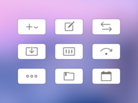 Toolbar icons in Savings for macOS