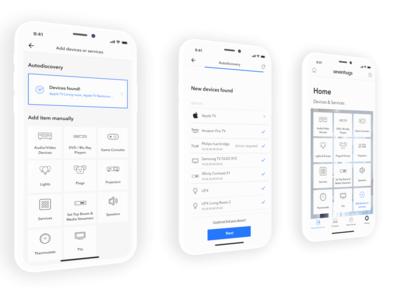 Smart Home app - Light mode