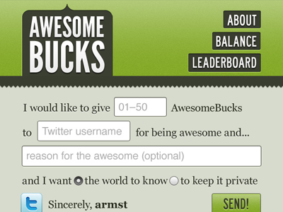 Awesomebucks mobile web responsive design app