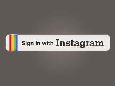 Sign in with Instagram white