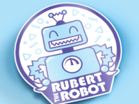 Rubert the Robot Sticker