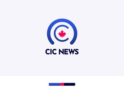 Logo from CIC News Rebrand logo mark blue branding identity design logo design logo