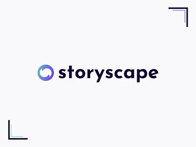 Storyscape interactive video vortex logotype bright colors logo