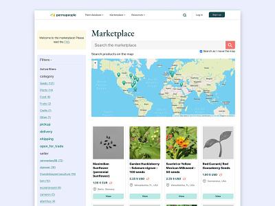 Permapeople open marketplace e-commerce sustainability gardening marketplace bright colors