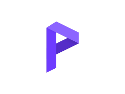 Logo concept for a new product we're working on. purple p logomark logo mark letter logo logo concept