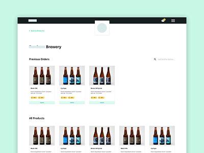 WIP - Brewery Management Dashboard order management work in progress inventory dashboard beer