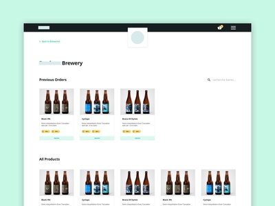 WIP - Brewery Management Dashboard order management work in progress inventory dashboard beer