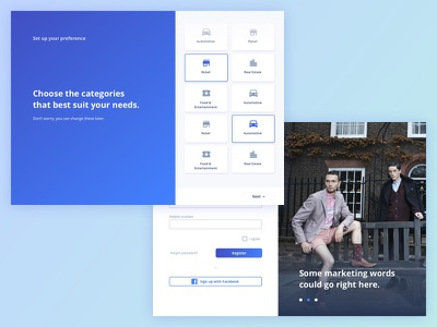 Marketing Survey Tool cards card layout radio button questions dashboard survey marketing wip work in progress