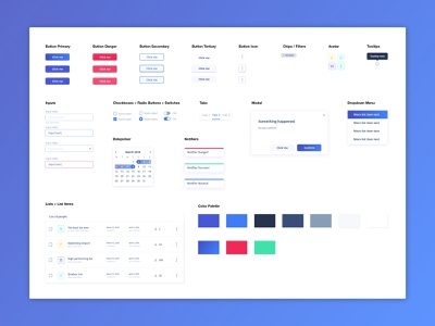 Component Library styleguide ui component library bright colors components