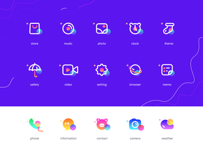 icons store clock music theme video safety logo branding ux space gradient colour adventure web flat ui icon illustration