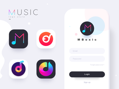 music logo cd musical note song music logo ux gradient logo colour adventure web flat ui icon illustration