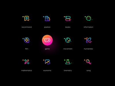 Linear icons ux logo branding space gradient colour adventure web flat ui illustration icon