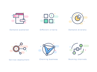 Icons icon business flat chart web demand channel classification service technology medical home ui order ios healthy family logo illustrations