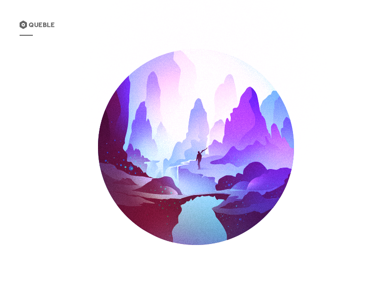 Scenery Illustrations illustration landscape adventure ux tourism ui role animation lake graphic moonlight solutions color mobile dreamy web cloud app flowers icon scenery design weather branding mountain
