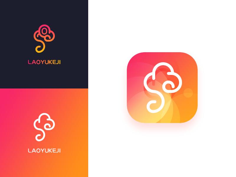 Logo Cloud logo cloud app movement business digital lead gradient clour branding icon trademark