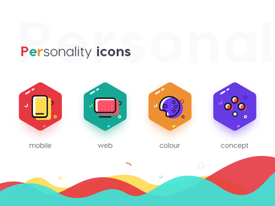 Personality Icons mobile illustration icon ui web flat logo file management rockets data data center watch time document notes