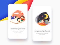 Guide Pages mobile storybook childrens illustration branding ux logo space gradient colour adventure web flat ui scenery icon landscape illustration