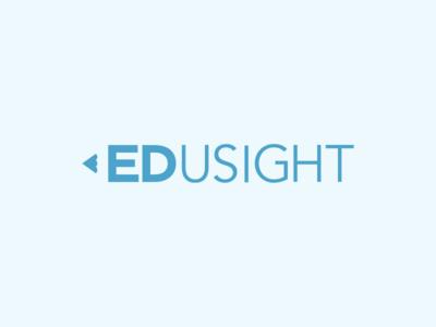 Edusight Logo wordmark pencil logo education