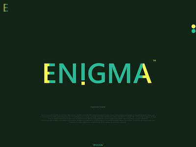 Logo Design- ENIGMA- Text logo. brandidentity brandlogo lettermarklogo colorfullogo logofolio minimallogo textlogo vector typography design icon illustration graphic design branding brand logodesigner logo design logo