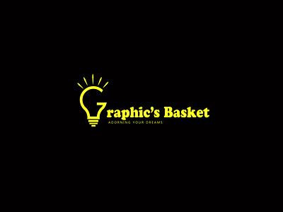 Minimal Logo- Graphics Basket logo design company logo brand logo text logo yellow logo agency logo minimalist flat logo minimal logo g logo g vector bulb vector typography design vector icon illustration graphic design logo branding