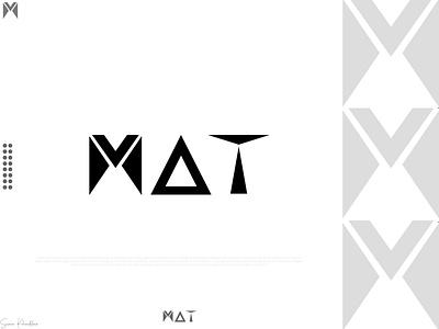 Minimalist Logo design- MAT m logo logofolio2k21 minimallogo black logo company logo brand logo app logo logo inspiration logo trends 2021 modern logo minimalist logo typography design vector icon illustration graphic design logo branding