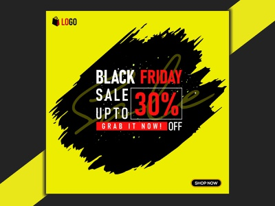 Modern Black Friday Social media Post Template design sale blackfridaydeals black friday black friday ui ux design typography vector illustration icon logo graphic design branding