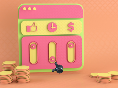 Money, Quality, Time brief client project speed quality budget story inspiration landing ae animation c4d cinema4d loop 3d