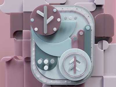 Abstract composition logo illustration design animation render octane cinema4d c4d art 3d