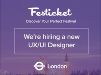 Join Festicket - Design