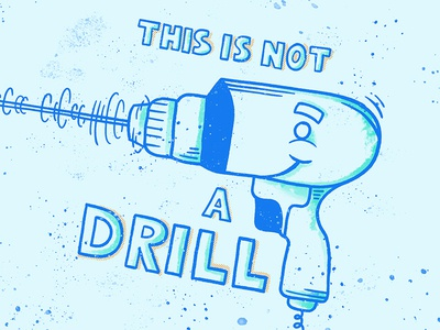 This is not a Drill design painting digital weird character creative lettering art drawing illustration