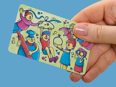 Independent Derry Card design digital creative character art drawing vector illustration