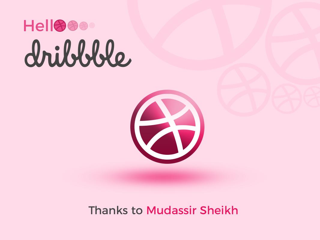 Hello Dribbble! welcome first shot shot invitation dribbble ball
