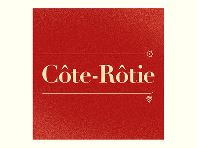 French wine wine typography textures rhône red grapes gradient gill fruit french bodoni 100