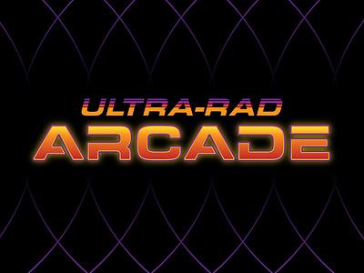 Ultra-Rad Arcade Logo dribbbleweeklywarmup branding graphic design 2d logo
