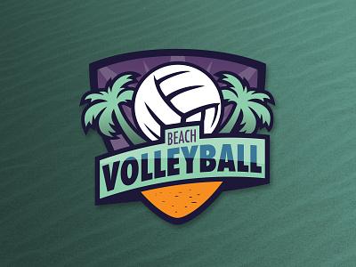 Beach Volleyball Badge vector design logo dribbbleweeklywarmup graphic design 2d