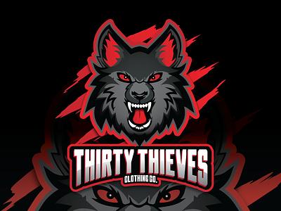 Thirty Thieves Clothing Co. Logo design illustration branding logo graphic design