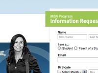 Landing page for Kaplan University