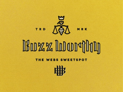 Buzz Mark custom lettering bees buzz monogram king crown scales