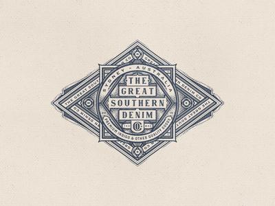 Denim Badge denim compass jeans south badge emblem crest